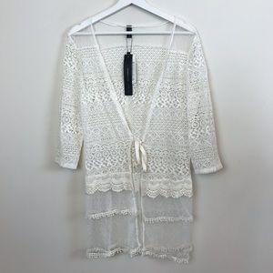 Zanzea NWT Cream Lace Kimono